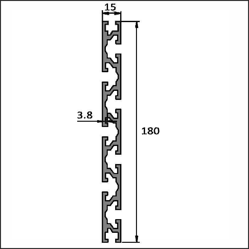 Aluminum T-slot 6-15180