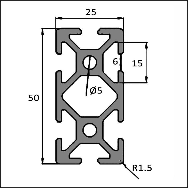 Aluminum T-slot 6-2050