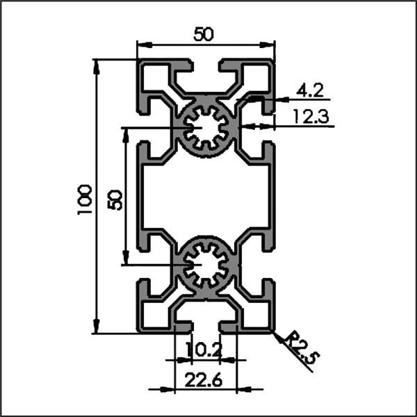 Aluminum-t-slot-10-50100-CAD