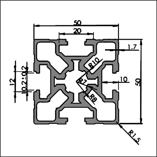 Aluminum-t-slot-10-5050B-CAD