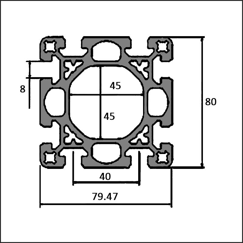 Aluminum-t-slot-10-8080D-CAD