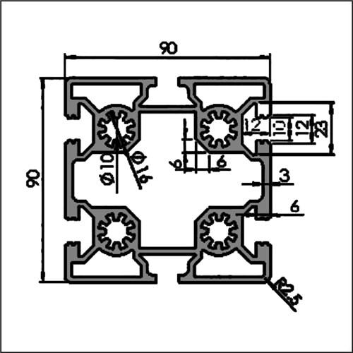 Aluminum-t-slot-10-9090H
