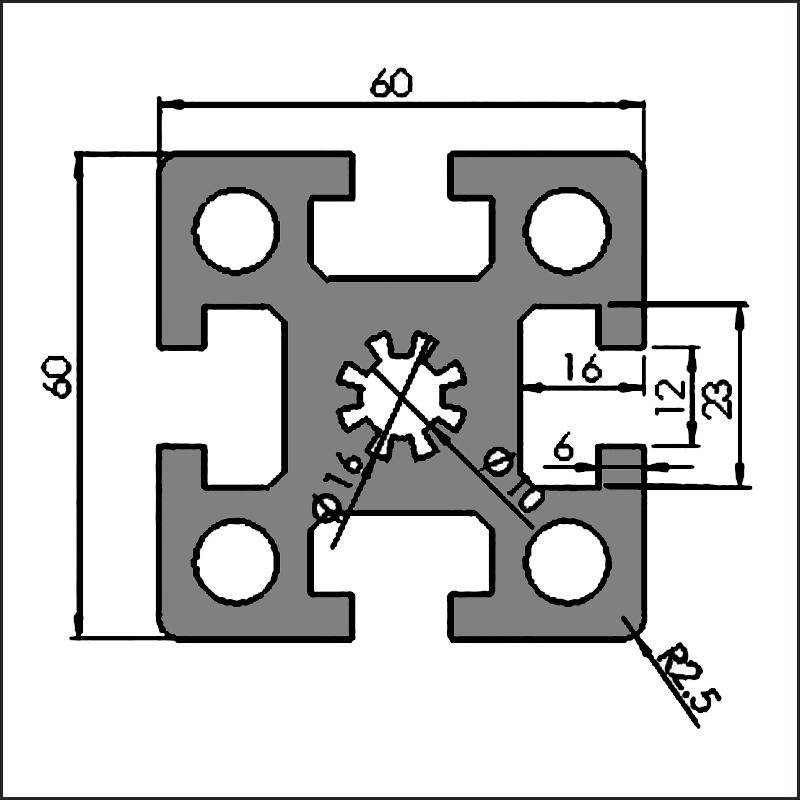 Aluminum-t-slot-12-6060-CAD
