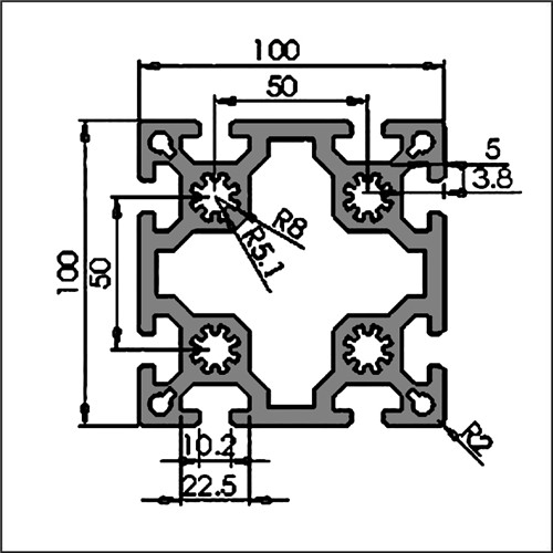 Aluminum-t-slot-8-100100-CAD