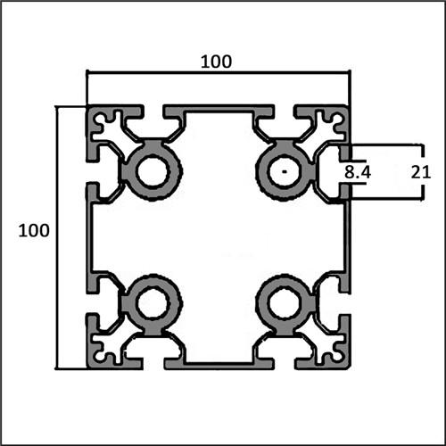 Aluminum-t-slot-8-100100K-CAD