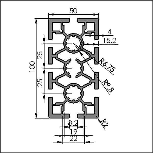 Aluminum-t-slot-8-50100A-CAD