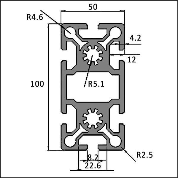 Aluminum-t-slot-8-50100B-CAD