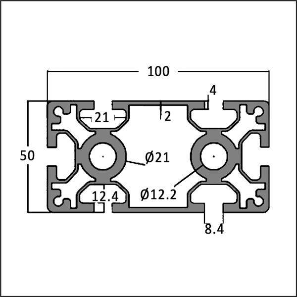 Aluminum-t-slot-8-50100M-CAD