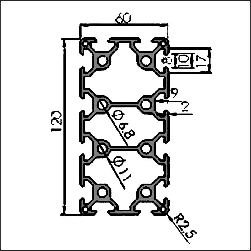 Aluminum-t-slot-8-60120A-CAD
