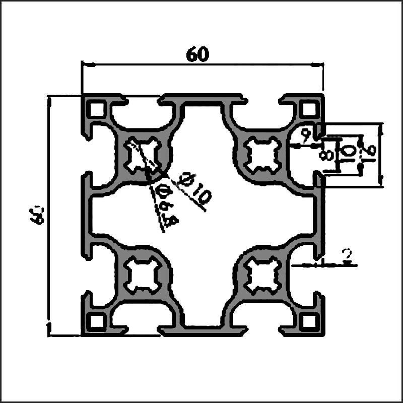 Aluminum-t-slot-8-6060G-CAD