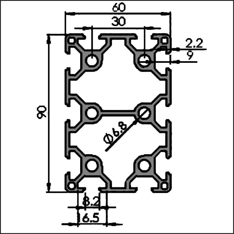 Aluminum-t-slot-8-6090-CAD