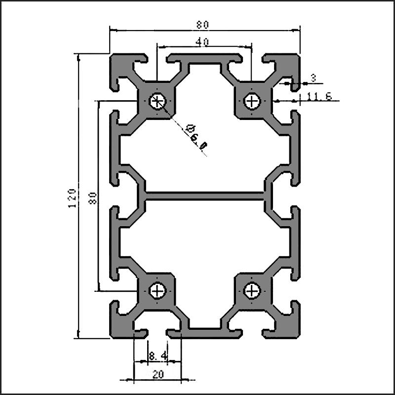 Aluminum-t-slot-8-80120-CAD