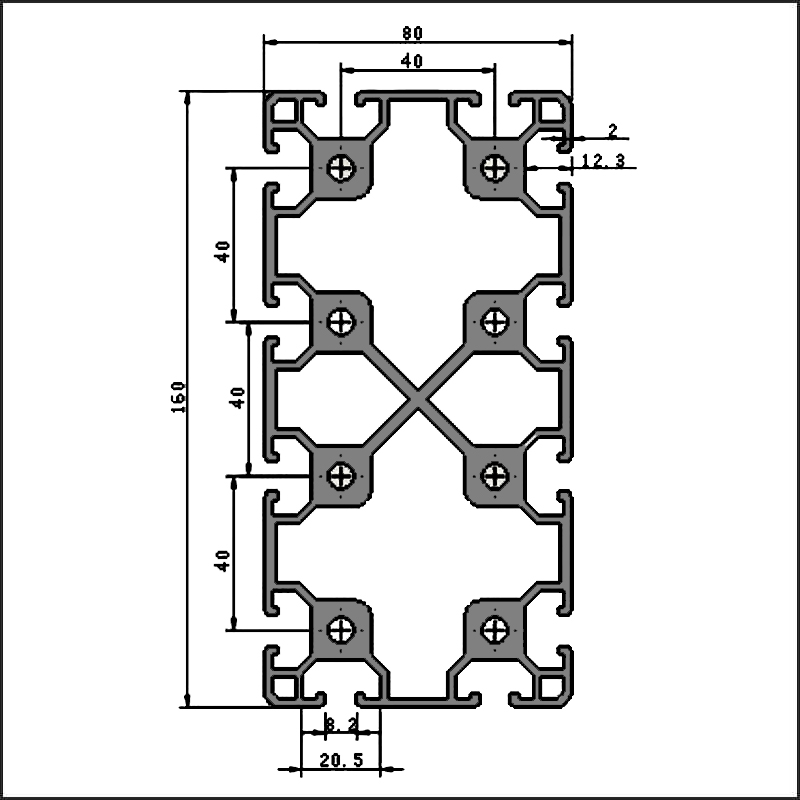 Aluminum-t-slot-8-80160A-CAD