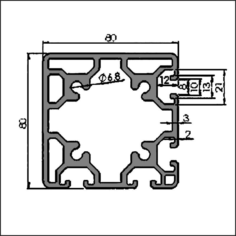 Aluminum-t-slot-8-8080L-CAD